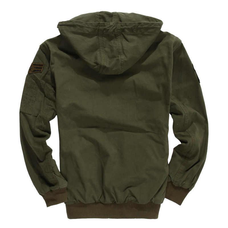 JOOBOX Novo Revestimento dos homens Americanos Pilotos Da Força Aérea Do Exército Militar Jaqueta Para Homens Homens Do Revestimento Destacável Mangas Inverno Algodão casaco