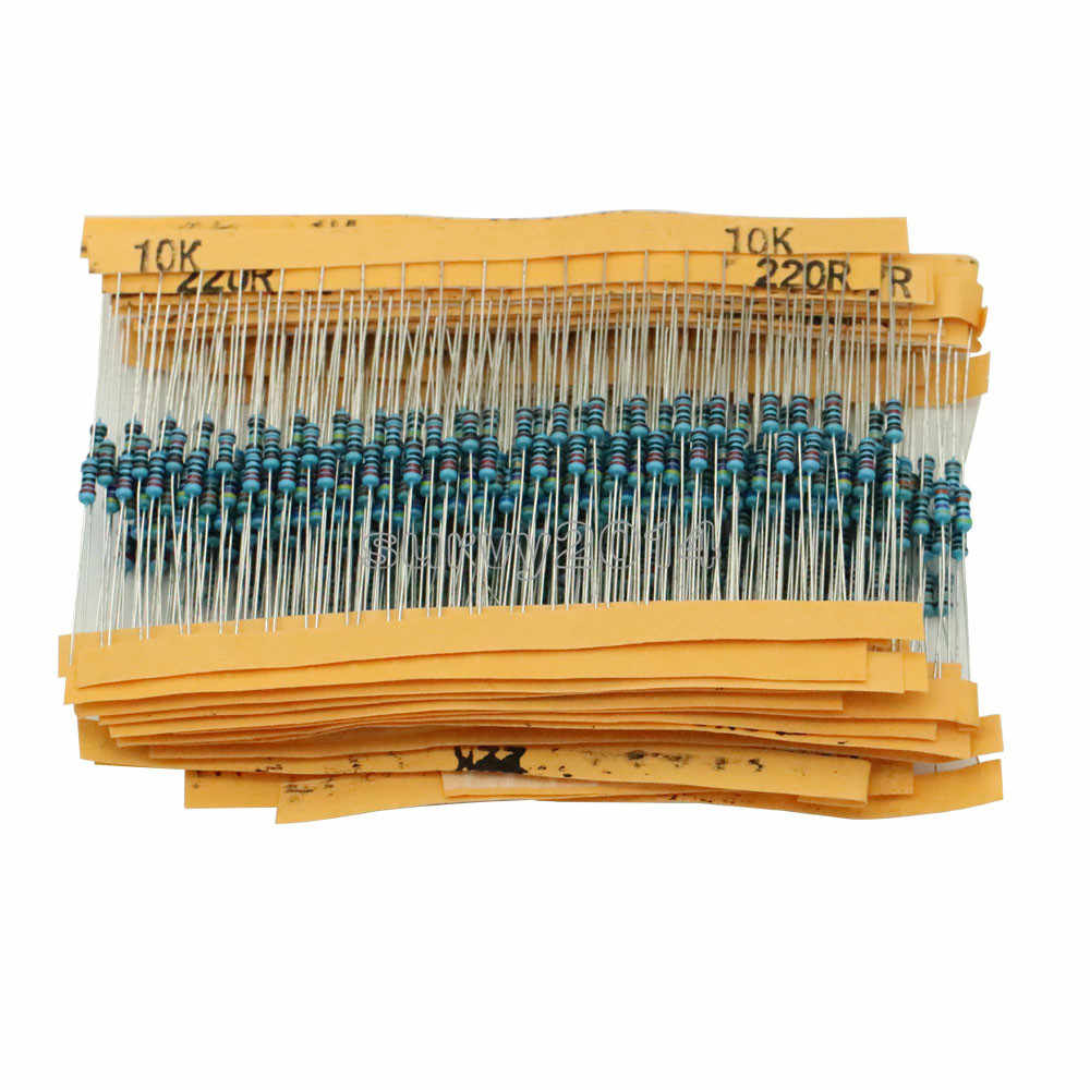 1 Pack 400 Pcs 1/4 w Resistenza 1% Metallo Film Resistor Resistenza Assortimento Kit Set 20 tipi Ogni 20 Pcs