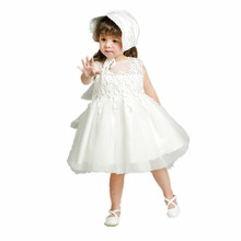 BBWOWLIN newborn baby girl 1 year birthday dress hat flower girl dresses baby girl christening gowns
