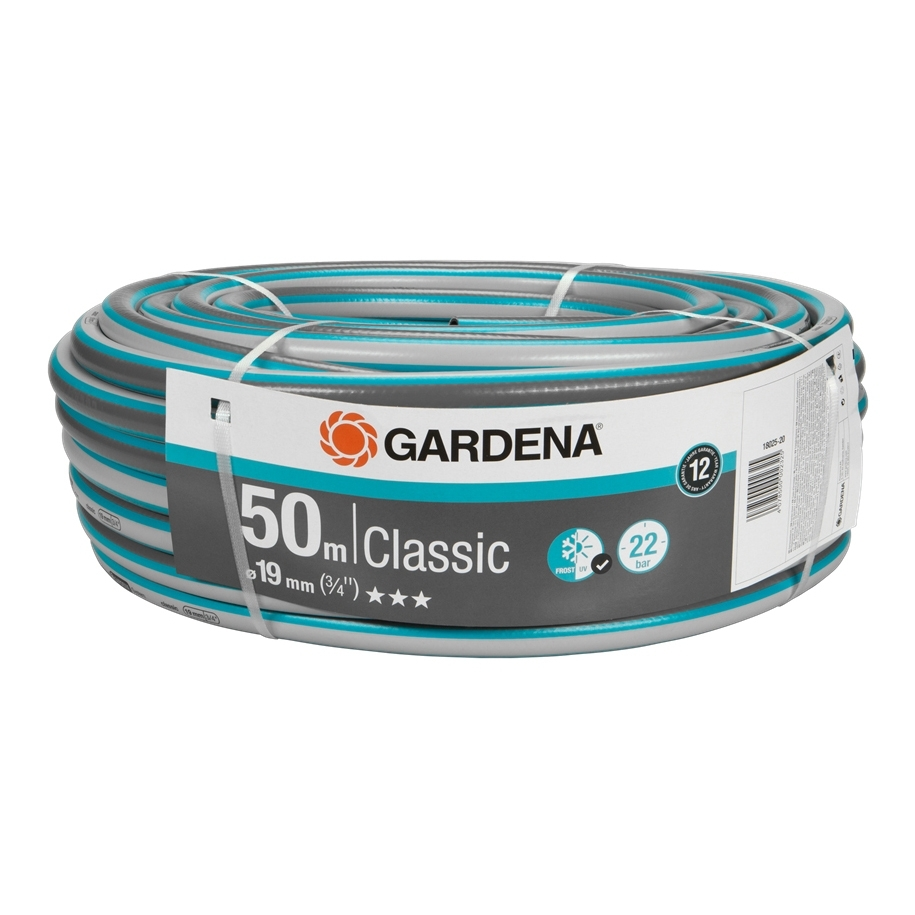 цена Watering hose GARDENA 18025-20.000.00 (50 m Length, diameter 19mm (3/4) working pressure 22 bar, reinforced, светонепроницаем, resistant to uv) онлайн в 2017 году