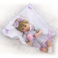 NPK 17 inch słodkie reborn baby doll hurtownie miękkie prawdziwy dotyk tkaniny ciała z PP bawełna wielkie zabawki dla dzieci