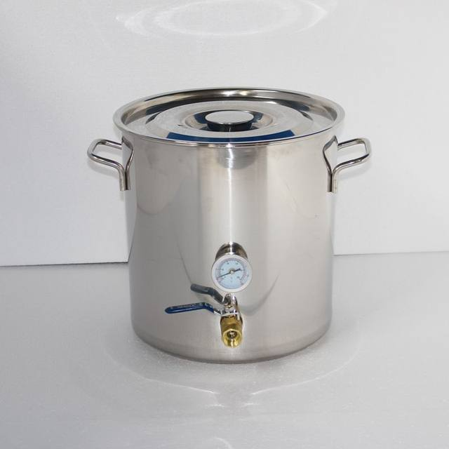 Online Shop 2Gal/8L Boiler Stainless Steel Fermenter Pot Thermometer on