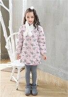 Cô gái bán buôn mùa đông áo trẻ em trẻ em hoa Dài tay áo mặc quần áo trẻ em 5AAB512DS-59 [Mười Một Câu Chuyện]