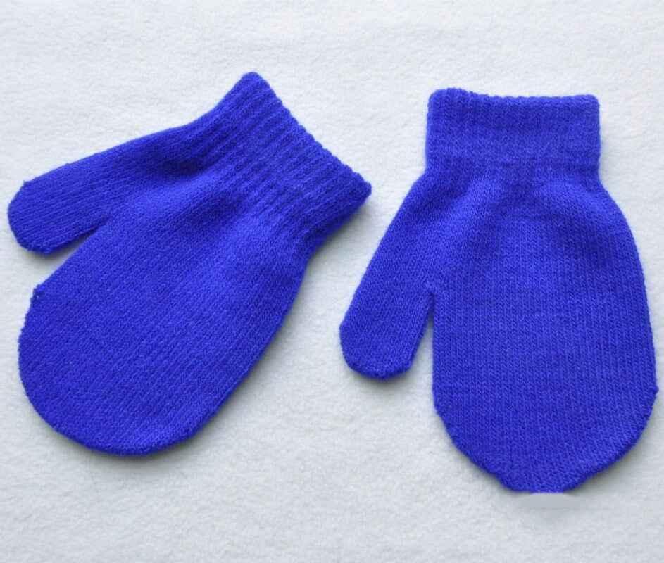 1 זוג תינוק צבעים בוהקים חורף חם כפפות פעוט בני בנות ילדי כפפות כפפות ילד אבזרים