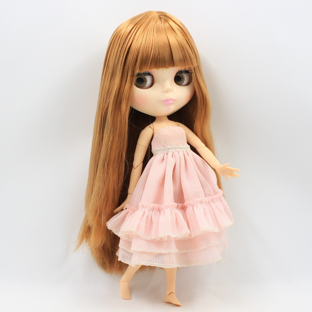 free shipping factory blyth doll 260BL0545 Brown hair with bangs toy bjd цена