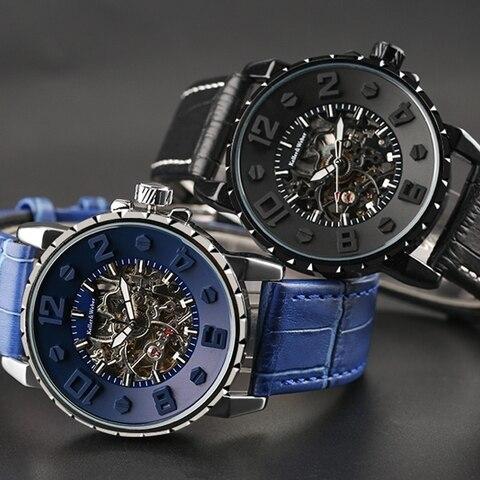Keller & Weber Men Watch Mechanical Top Luxury Fashion Brand Leather Man Sport Watch Mens Automatic Watch Relogio Masculino Islamabad