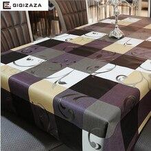 PVC estilo Europeo mesa cuadrada paño Oilproof impermeable no de lavado de plástico almohadilla de terciopelo contra el calor mantel café ZBB001