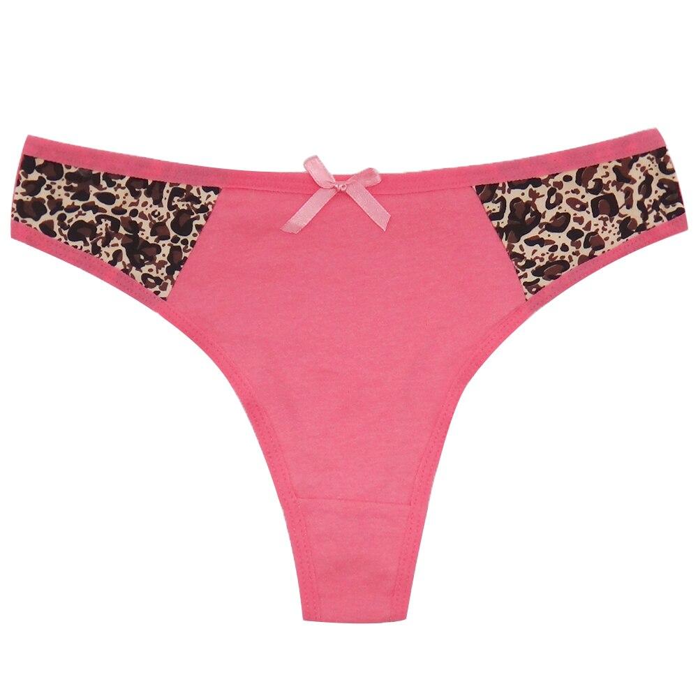 Women/'s Cotton Leopard G-String Thongs Panties T-back Underwear Bikini Lingerie