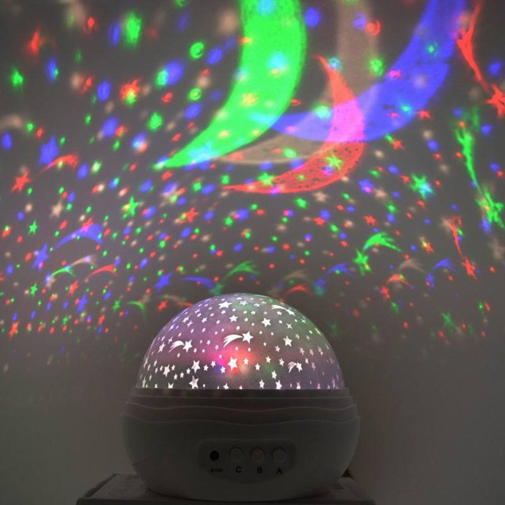 Creative Bud Shaped Projector Lamp Romantic Starry LED Light Bedside Small Nightlight Children Gift Projection Lamp