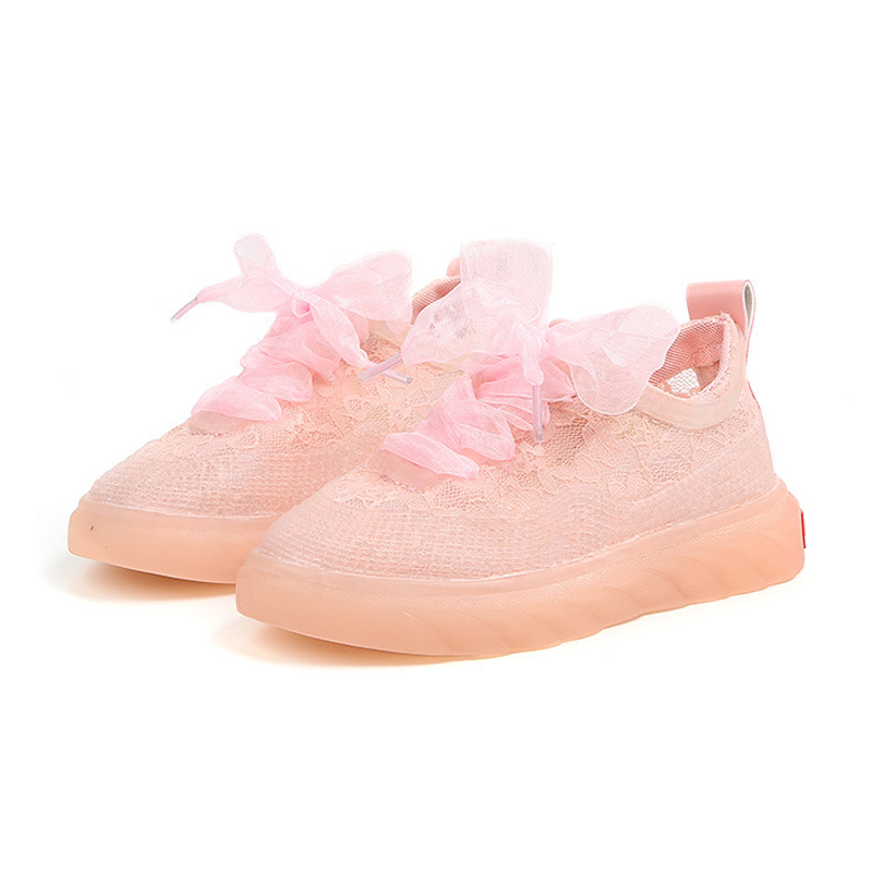New Summer Autumn Children Shoes Girls Sneakers Embroidery Lace Shoe Kid Child Causal Trainer Flat Shoes Solid Color Sneakers