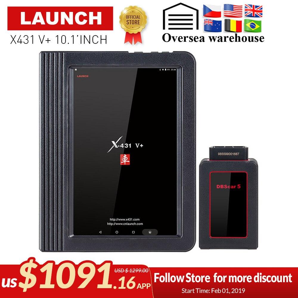 Запуск X431 V Plus 10,1 дюймовый Wi-Fi/Bluetooth Авто инструменту диагностики с 2 год бесплатного обновления X431 V + автомобиль сканера же как X431 Pro3