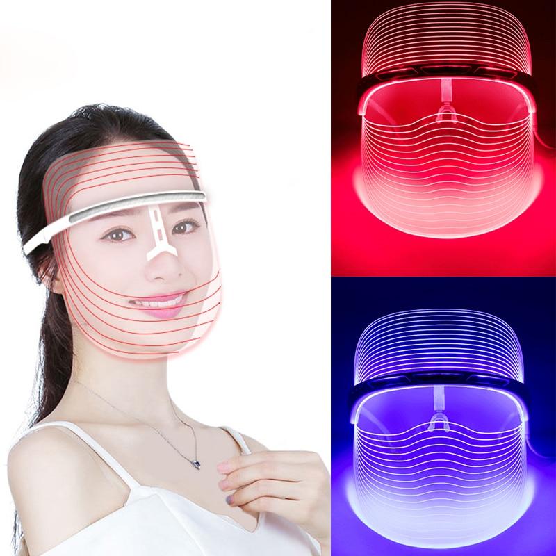 Skin Care Skin Care Tool 3 Colors Led Light Face Mask Anti Acne Anti Wrinkle Facial Spa Instrument Treatment Beauty Device Face Skin Care Beauty Tools