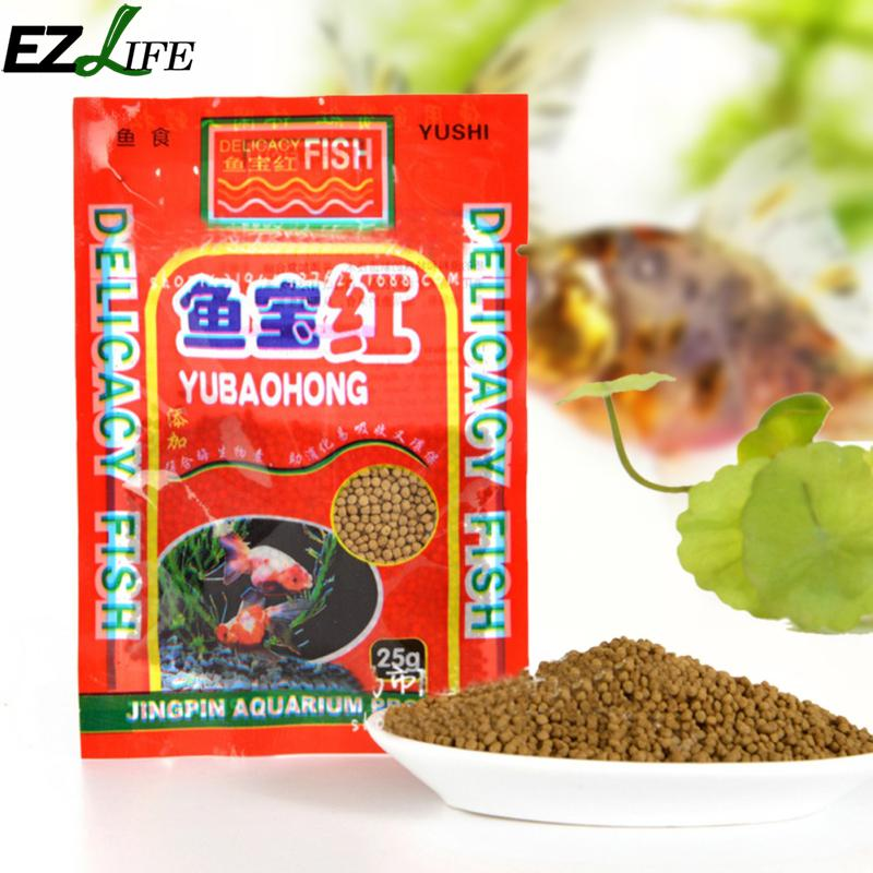 Ezlife aquarium hot sale fish food small fish feed small for How to feed fish