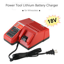 B 18V US/EU Plug Power Tool Lithium Battery Charger Replacement for Milwaukee M18 Power Tool Accessories(China)