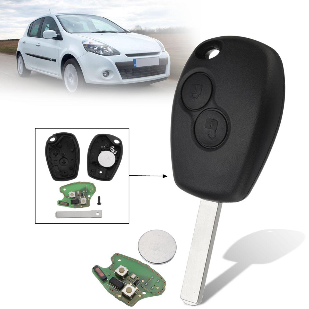 2 boutons À Distance Key Fob Coque avec PCF7947 Puce 433 mhz Pour Renault Clio III Maître Modus Twingo Kangoo II