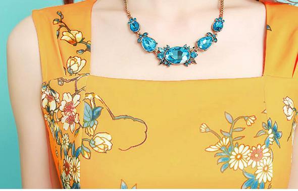 22b93d4fd Primavera verano moda elegante mujeres cabidas delgadas estampado de flores  vestido sin mangas