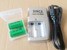 3V CR123A Charger + 2 pcs .. Nieuwe 3V 16340 batterij, sectie CR123A Charger(China)