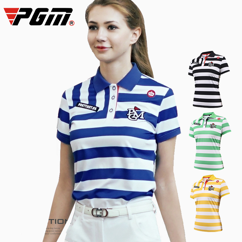 Chemises de Golf pour femmes compétition entraînement sport ajustement personnel d'été rayures zébrées comme chemises de Base chemises de fond