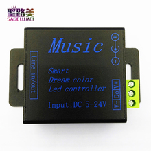 1pcs DC5V-24V SPI RGB Smart dream color music controller to control 250pixels for 5050 ws2811 ws2812b led strip modules strings