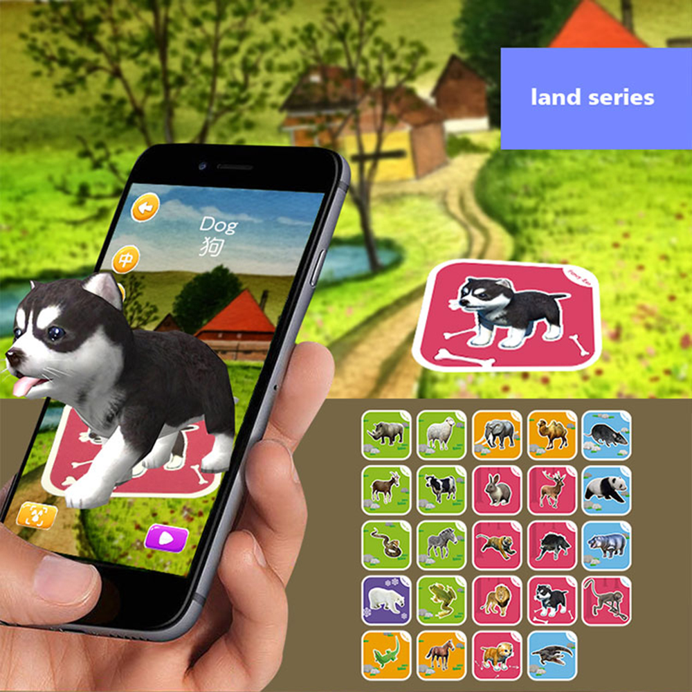 68pcs Magic 4d Flashcards Ar Animals Early Childhood Memory Matching Giant Flashcard Shipping