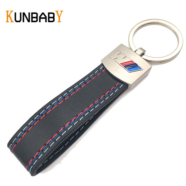 KUNBABY Metal Key Chain For Car Keyring Leather Car Key Ring ...