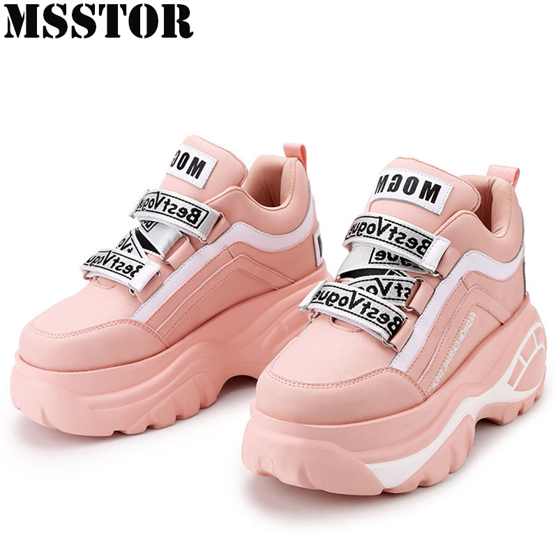 MSSTOR 2018 Winter Sneakers For Women Height Increasing Women's Running Shoes Athletic Walking Ladies Sport Shoes Woman Brand xiang guan breathable leather athletic sneakers man woman trainer sport shoe height increasing running shoes for women 3377