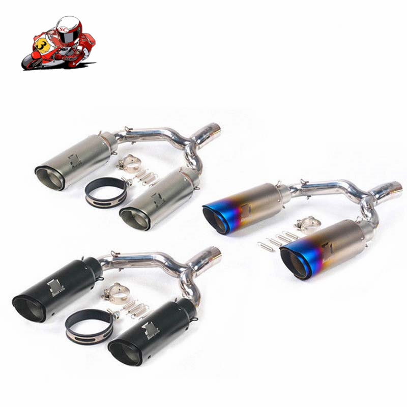 Slip On For <font><b>Suzuki</b></font> GSR400 <font><b>GSR600</b></font> <font><b>Exhaust</b></font> Pipe Stainless Steel Mid Link Pipe for Rear Muffler Left Right Tail Escape DB Killer image