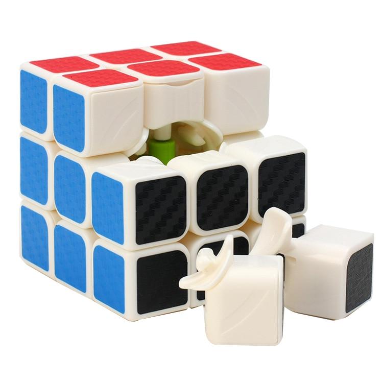 3 * 3 * 3 Karbon Fiber Sticker El Spinner Neo Küpler Hız Oyunu - Oyunlar ve Bulmacalar - Fotoğraf 3