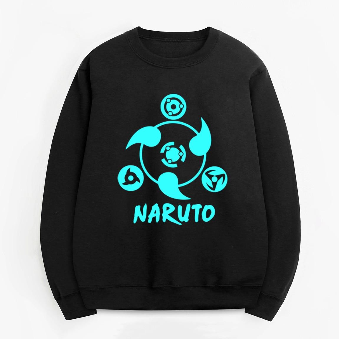 2019 man casual fleece bodybuilding pullovers Uzumaki Naruto hoodies men Anime noctilucous print fashion sweatshirts tracksuits