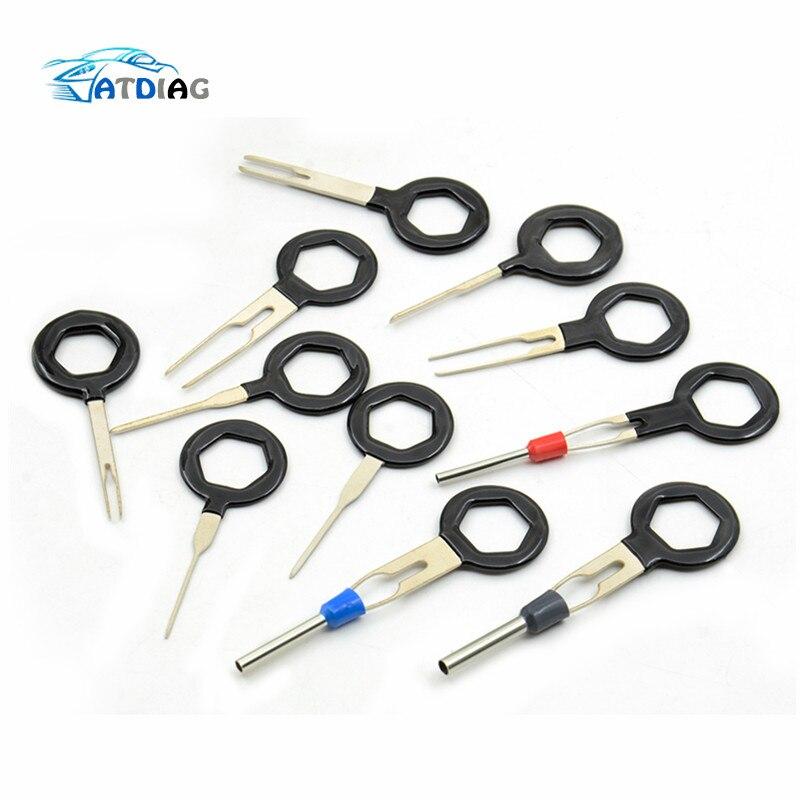 Car Repair Tools Diagnostic Tools Remove Tool Set 3/8/11pcs Auto Car Plug Circuit Board Wire Harness Terminal Extraction Pick Connector Crimp Pin Back Needle