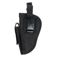 Caça Tático Militar Hand Gun Pistol Holster Esquerda Mão Direita Tiro Caça Airsoft Gun Bolsa Com Slot Titular Mag