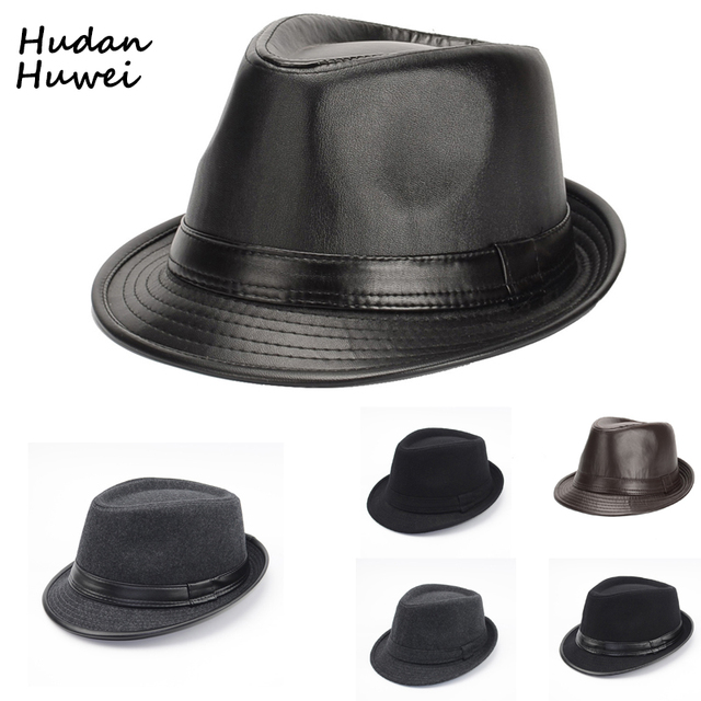 4c3216ea5ed British Style Short Brim Jazz Caps Hats Fashion Wool Felt Fedoras Trilby Hat  solid panama formal