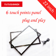 22 inch infrared touch screen multi ir touch frame with glass, water proof ir touch panel overlays for LCD or TV цены