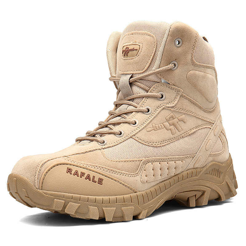 4e11922bc383 Outdoor Waterproof High Tube Wear-resisting Non-slip Desert Shoes Men Male  Army Fans
