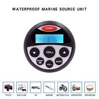 Водостойкий Морской Стерео Bluetooth радио мотоцикл аудио Лодка Автомобильный mp3 плеер Авто звуковая система FM AM приемник для спа UTV ATV