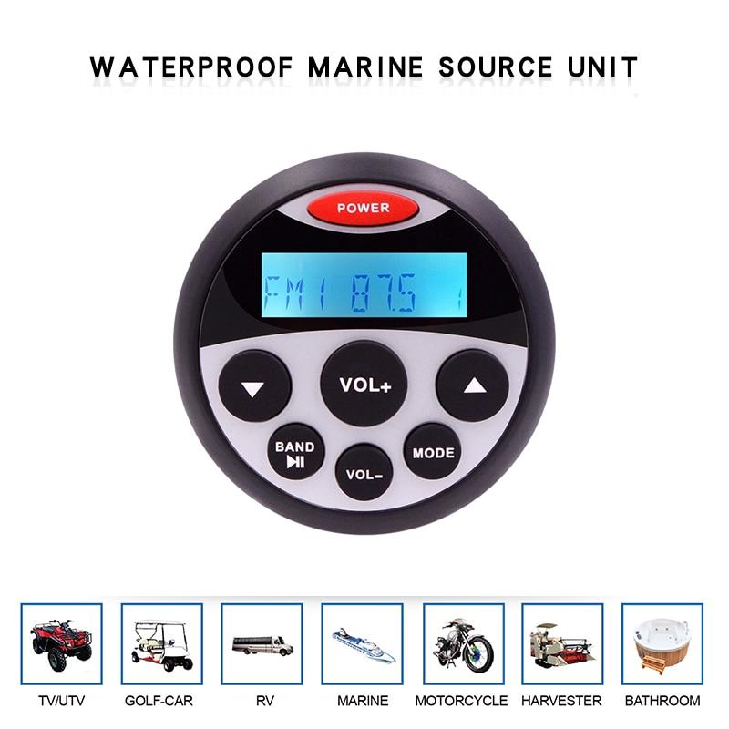 Impermeable estéreo marítimo Radio Bluetooth de audio para motocicleta barco MP3 jugador Sonido automático sistema FM RECEPTOR SPA UTV ATV