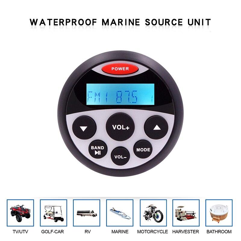 Lecteur MP3 de voiture de bateau Audio de moto de Radio stéréo Marine imperméable à l'eau système de son automatique récepteur FM AM pour SPA UTV ATV