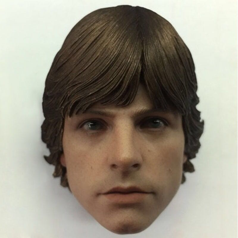Custom 1/6 Scale Star Luke Skywalker head sculpt for Hot Toys body in stockCustom 1/6 Scale Star Luke Skywalker head sculpt for Hot Toys body in stock