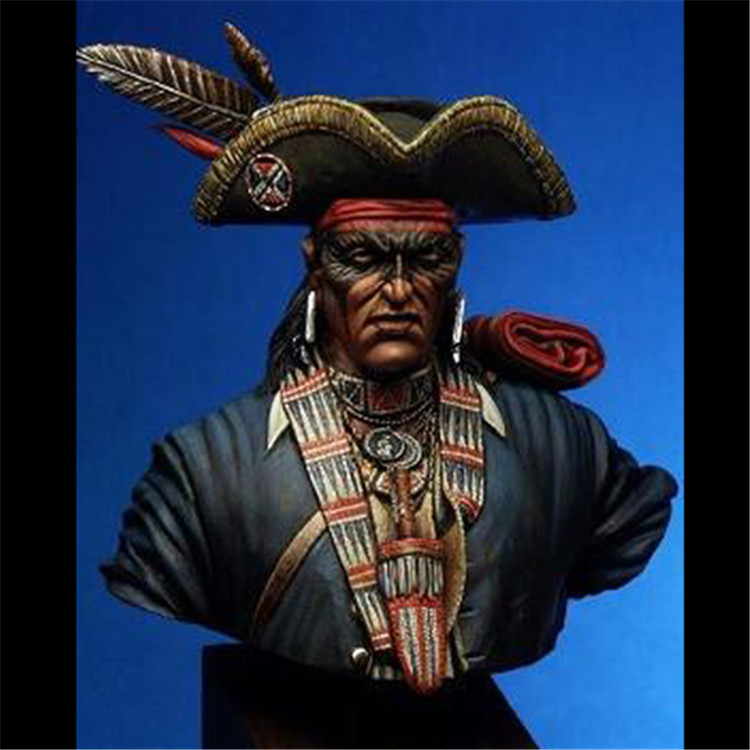 1/10 Resin Bust WWII North American Great Lakes Warrior Pontiac Unpainted and not assembled resin kits wwii hms surprise captain jack resin soldier bust model resin bust master and commander
