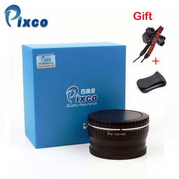 Pixco Focal Reducer Speed Booster Lens Adapter Suit For Canon EOS Lens to for Sony E Mount Camera NEX +Lens Cap U-Clip+ Straps