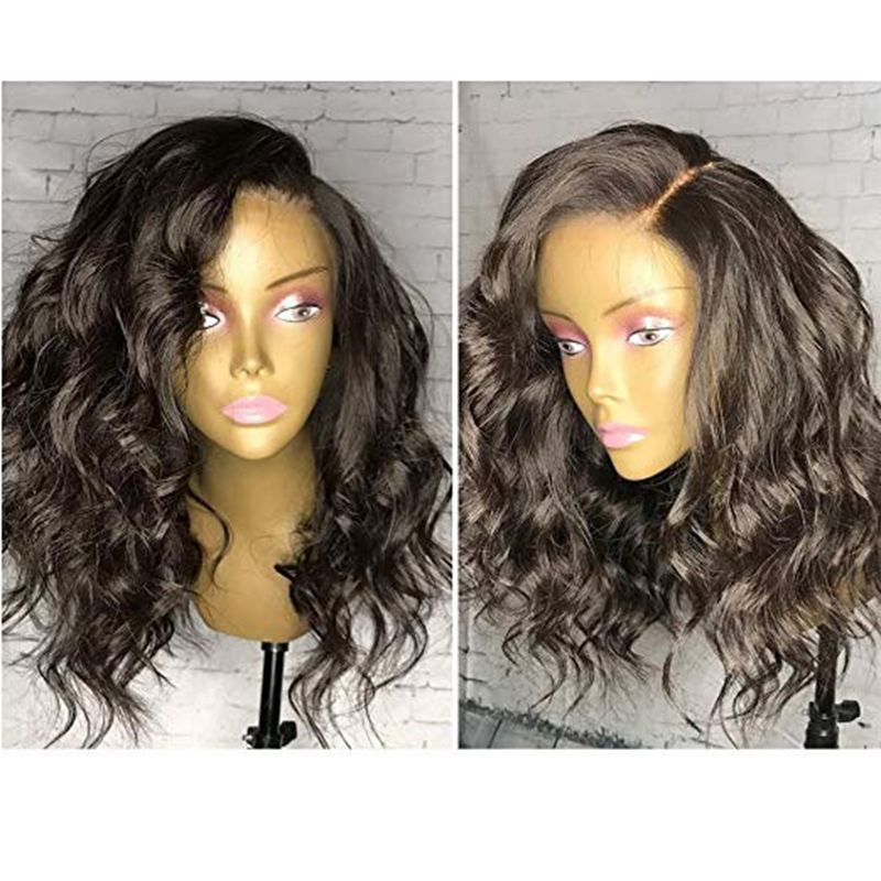 Bob Wave Lace Front Wig Pre Plucked Brazilian Short Human Hair Wigs With Baby Hair Remy
