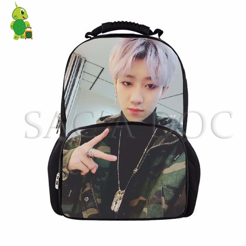Men's Bags Aspiring Seventeen Jun Luggage & Bags Hoshi Printed Backpack Teenagers School Bags College Students Large Laptop Backpack Women Men Casual Travel Bags Harmonious Colors