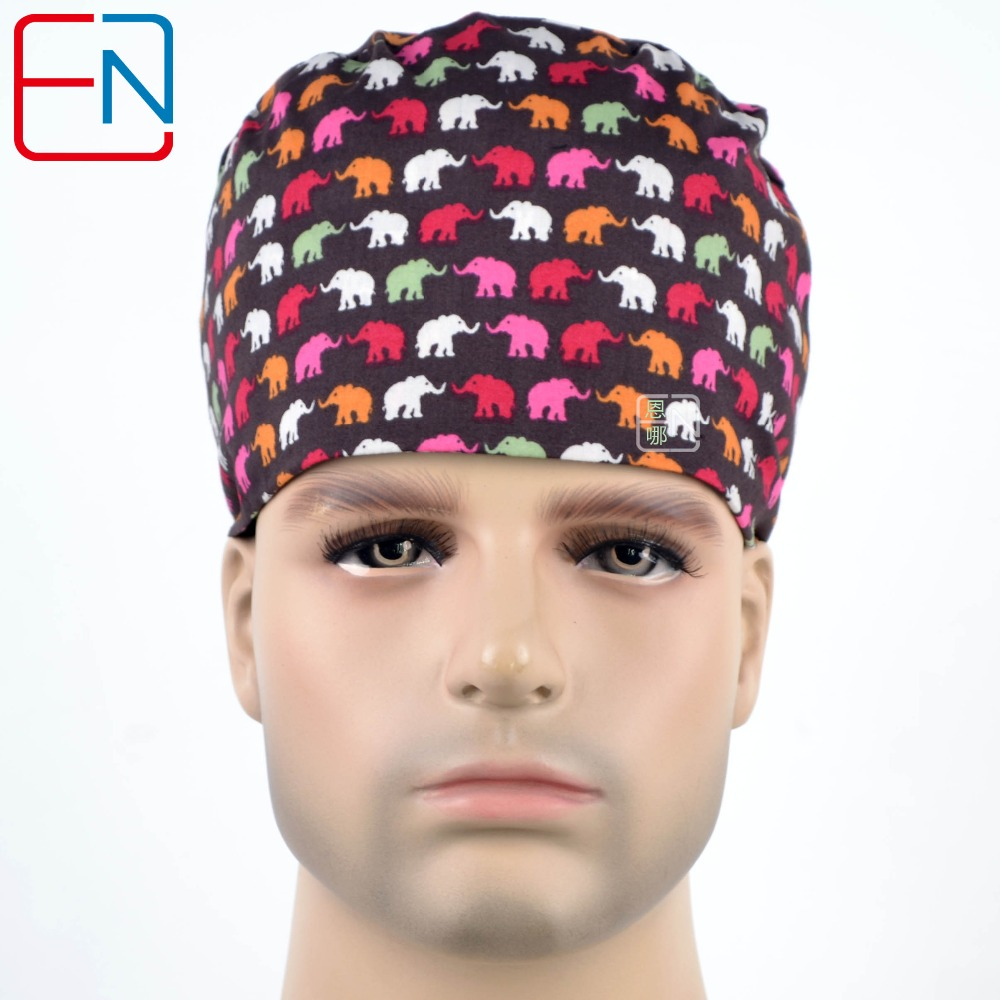 Short Hair Men And Women Surgical Caps Medical Cap With Sweatband