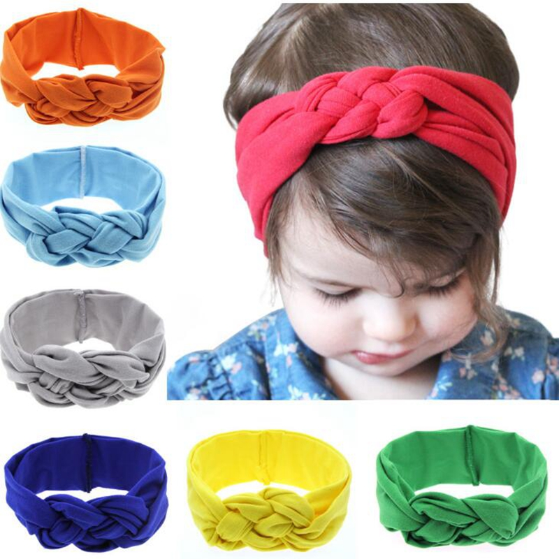 Fashion Baby Knot Headbands Cotton Baby Headwrap Solid Cross Knot Baby Turban Tie Knot Headwrap Cute Headwear For Baby Girls