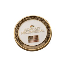 Metal commemorative coin made American flag High-grade lacquer