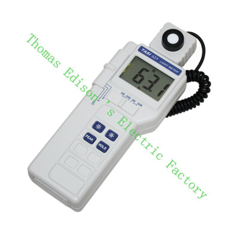все цены на  High Quality TASI-631 Digital Light Meter Luxmeter Meters LCD Backlight PEAK-HOLD 50mS pulse light and DATA-HOLD features  онлайн