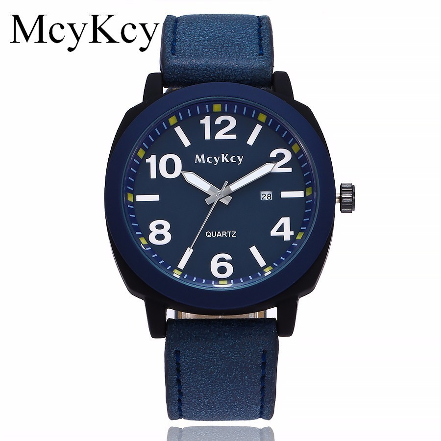 New McyKcy Brand Popular Watch Men Military Casual Watches Male Sports Quartz Wristwatches Gift Clock Relogio Masculino Hot weide new men quartz casual watch army military sports watch waterproof back light men watches alarm clock multiple time zone