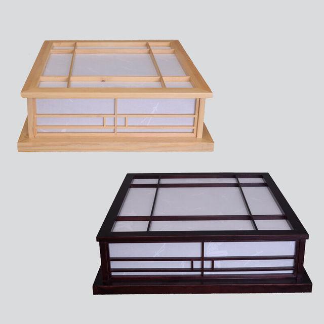 japonais accueil led plafonniers shoji lampe bois papier. Black Bedroom Furniture Sets. Home Design Ideas
