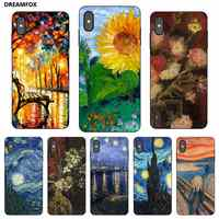 P236 Van Gogh Preto Silicone Case Capa Para Apple iPhone 11 Pro XR XS Max X 8 7 6 6S Plus 5 5S SE