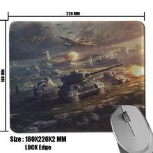 World of Tanks Background Anti-Slip Fabric&Rubber Rectangle Slide Mat for Game Player Mousepad